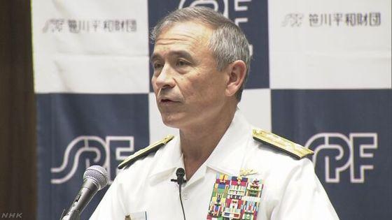 해리 해리스 미 태평양사령부 사령관. [사진 NHK 홈페이지 캡처]