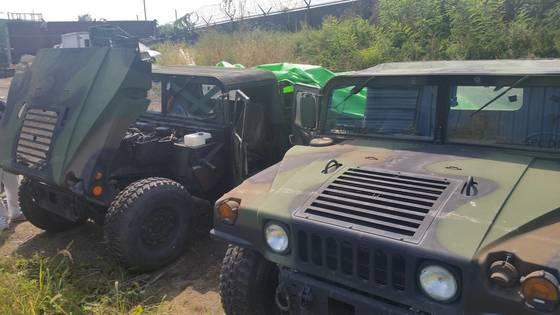 허씨 일당이 빼돌린 주한미군 전투용 차량 험비. [사진 서울경찰청 국제범죄수사대]