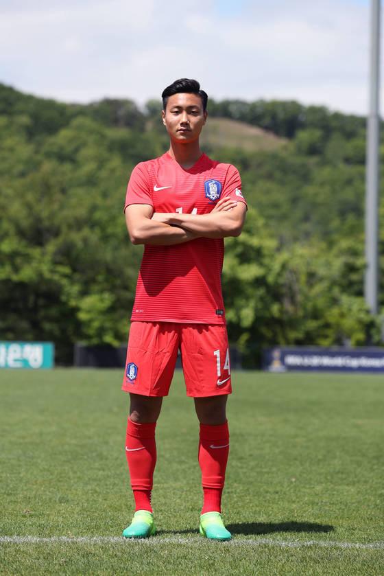 20세 이하 대표팀 공격수 백승호. 사진=대한축구협회