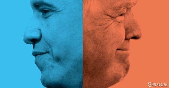 버락 오바마(왼쪽)과 도널드 트럼프(오른쪽). [중앙포토]