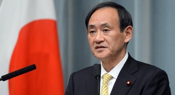 스가 요시히데(菅義偉)일본 관방장관. [중앙포토]