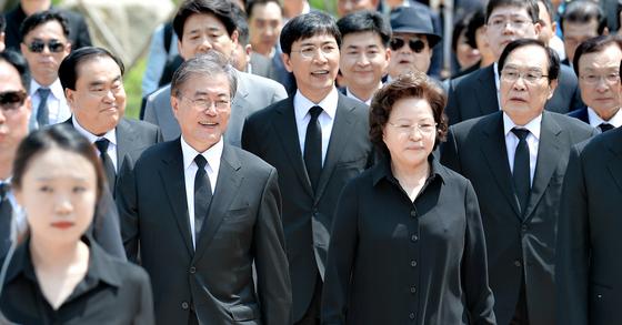 고(故) 노무현 전 대통령 서거 7주기 추도식. [사진 공동취재단]