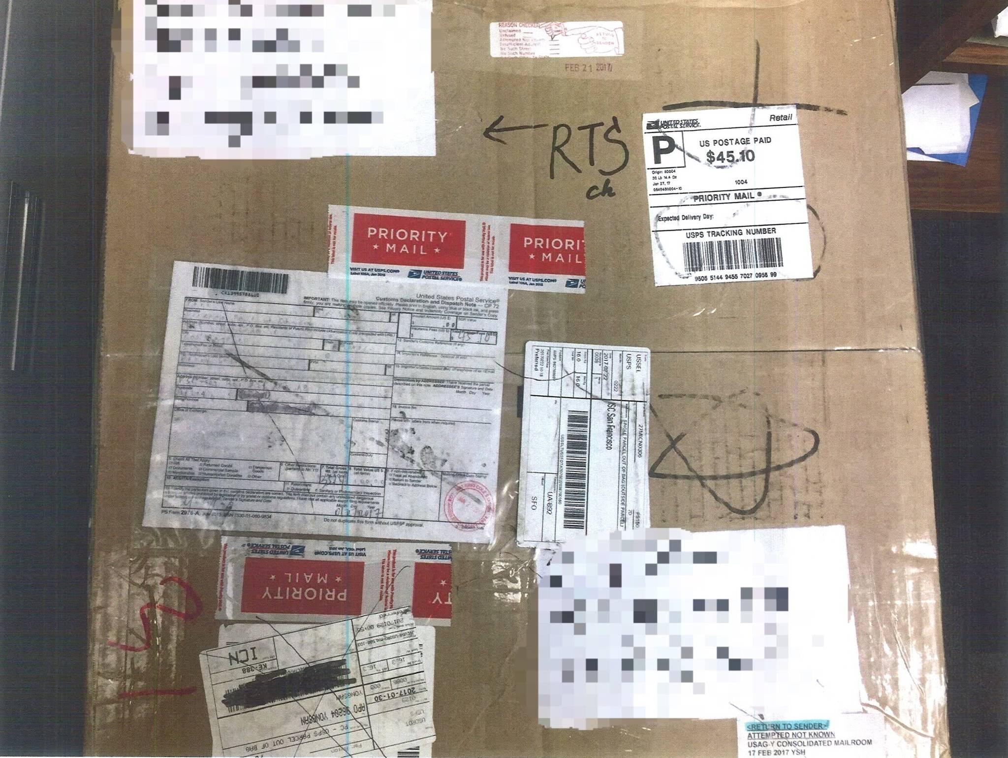 피의자들이 국제우편을 통해 밀반입한 마약들. [사진 서울경찰청 광역수사대]