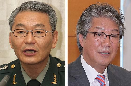 이상철(左), 김기정(右)