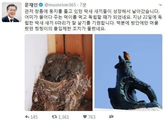 [사진 문재인 대통령 트위터]