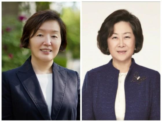 이화여대 김혜숙 교수(왼쪽)와 김은미 교수(오른쪽)가 제16대 총장 선거 최종 후보로 남아 25일 결선투표를 치렀다. [사진 이화여대]