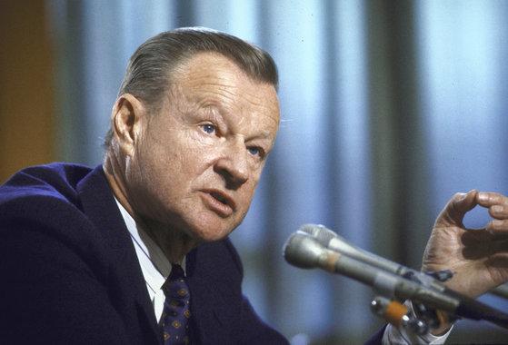 1987년 즈비그뉴 브레진스키 전 백악관 국가안보 보좌관의 모습. 그는 퇴임(81년) 이후에도 활발한 외교 활동을 이어갔다. [뉴욕타임스]