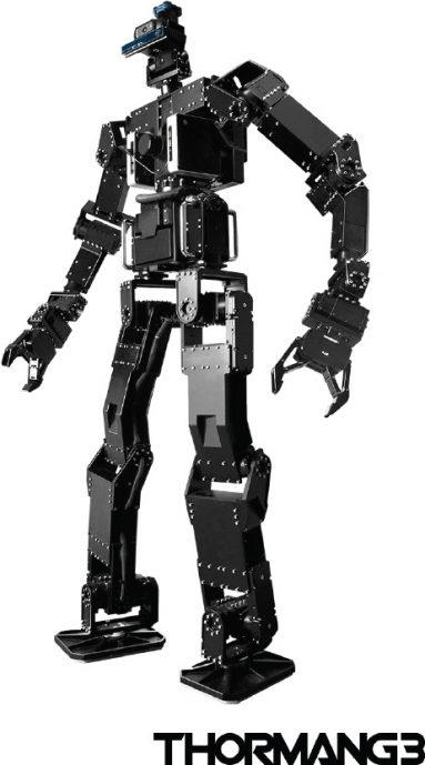 로보디즈의 휴모노이드 로봇 '똘망'. 주로 교육 또는 연구 목적이나 서비스 목적으로 판매되지만 인공지능을 적용하는 대상으로 사용되기도 한다. / 사진제공·로보티즈