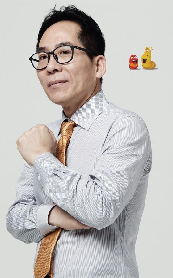 ▎'라바'의 두 주인공 옐로와 레드 중 옐로를 빼닮은 김광용 대표.