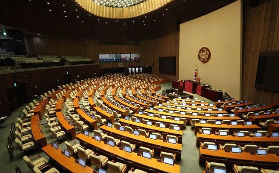 29일 국회 본회의장 모습. 오종택 기자