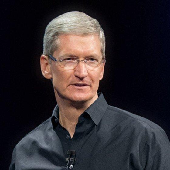 애플의 팀 쿡(56) 최고경영자(CEO).