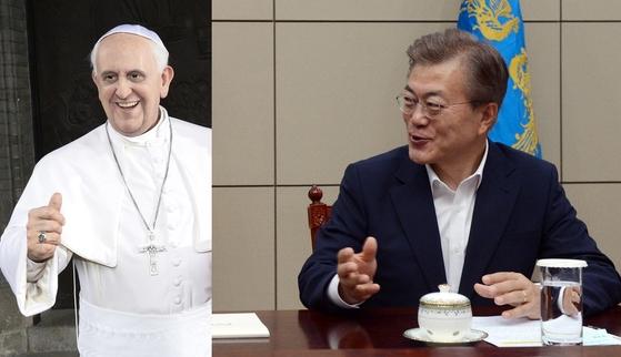 프란치스코 교황과 문재인 대통령