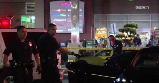 29일(현지시간) 미국 KABC 방송은 28일 밤 LA 한인타운에서 총격이 발생 1명이 죽고, 1명이 부상을 당했다고 보도했다. [사진 KABC 방송화면]
