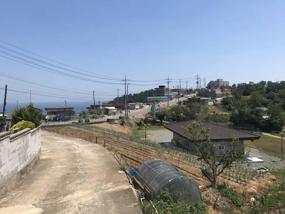 천지원전 건설사업이 추진된 경북 영덕군 영덕읍 석리 전경. 영덕=김정석기자