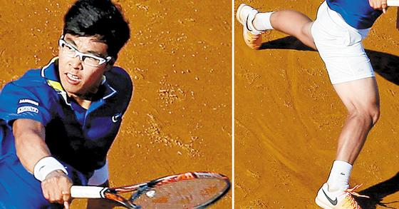 남자프로테니스(ATP) 세계랭킹 67위 정현. [중앙포토]