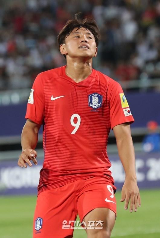 U-20축구대표팀 공격수 조영욱. 천안=양광삼 기자