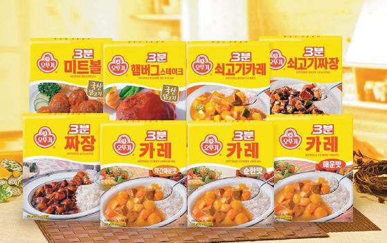 오뚜기의 즉석식품 브랜드 '3분 요리'는 1981년부터 지금까지 36년간 국내 즉석식품 최고 자리를 지키는 장수 브랜드다. [사진 오뚜기]