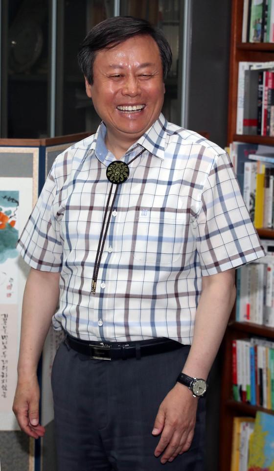 문화체육관광부 장관 후보자로 지명된 도종환 더불어민주당 의원.강정현 기자