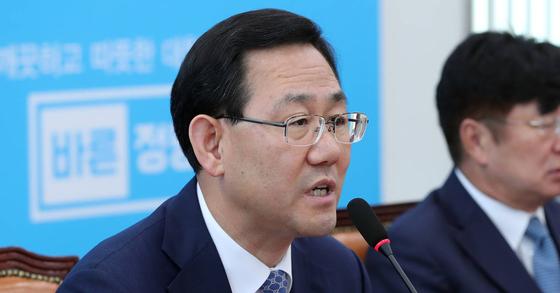 주호영 바른정당 당 대표 권한대행 겸 원내대표. 박종근 기자