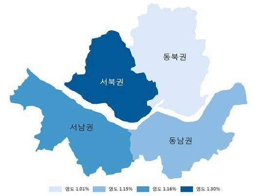 서울시 된장찌개 염도 지도