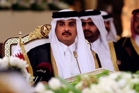 카타르 셰이크 타밈 빈하마다 알타밈 국왕 [AP=연합뉴스]