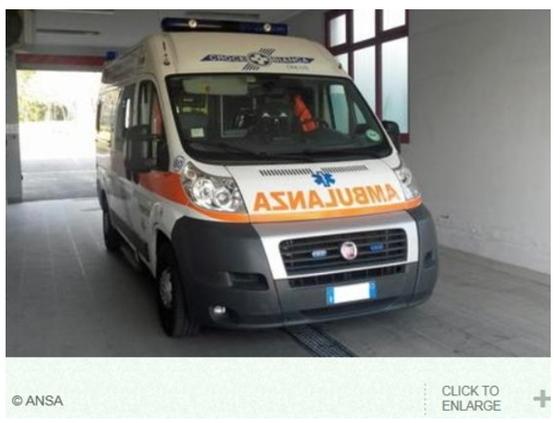 이탈리아 구급차의 모습 [ANSA통신 홈페이지 캡처=연합뉴스]