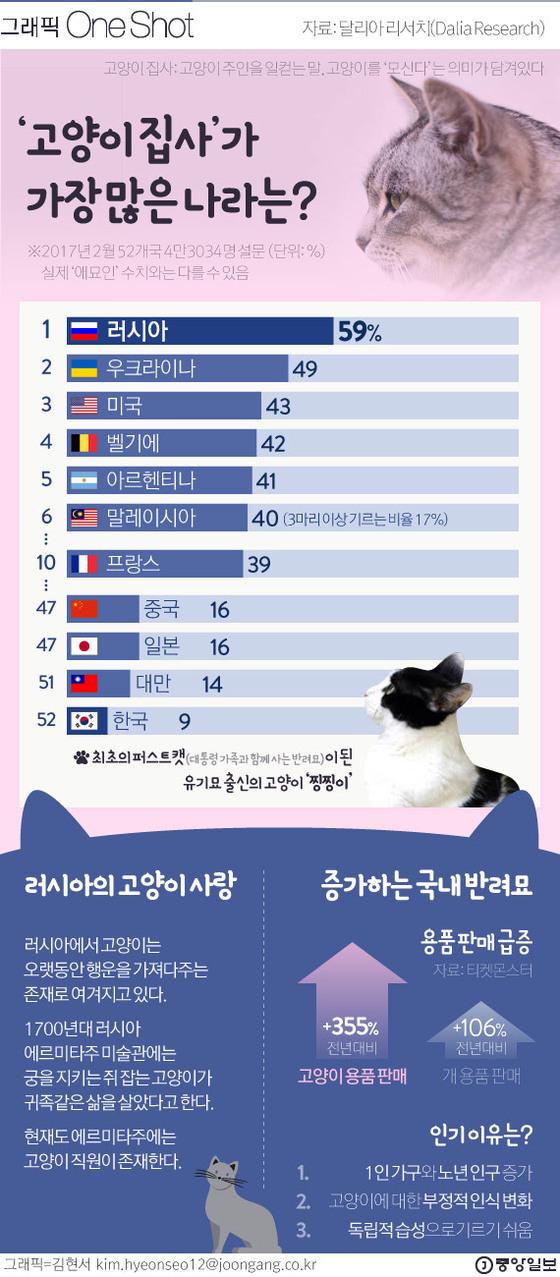 러시아의 남다른 고양이 사랑