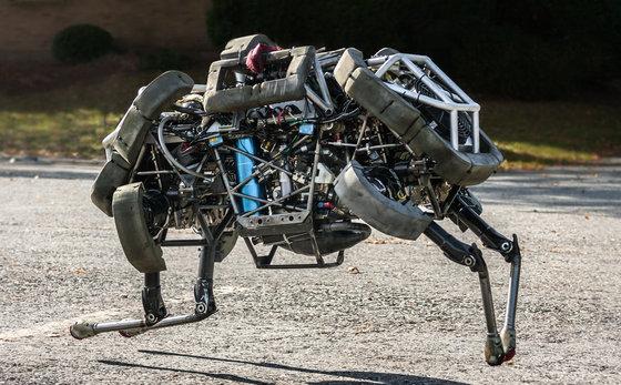 보스턴 다이내믹스의 4족 로봇 '와일드캣'. [사진 뉴욕타임스]