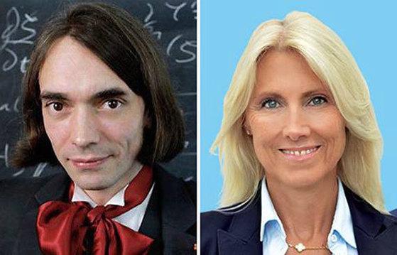 천재 수학자 빌라니(왼쪽)와 여성 투우사 사라.
