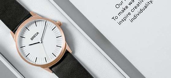 블루게이트의 대표 상품인 '브레다'는 미국 달라스에서 론칭된 손목 시계 브랜드이다.