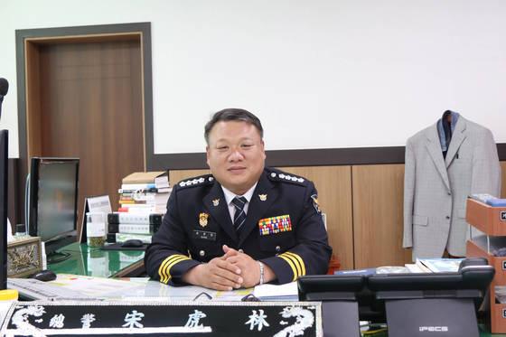 국내 과학수사계 대부라는 별명을 갖고 있는 송호림 경기 성남수정경찰서장. [사진 성남수정경찰서]