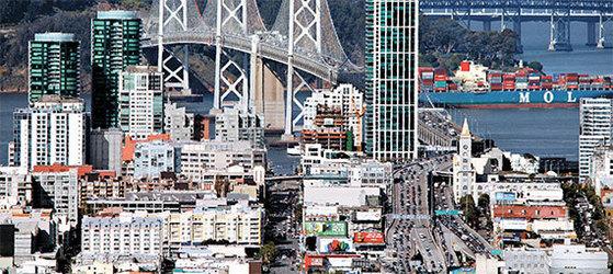 샌프란시스코 정보기술(IT) 창업 기업들의 주 활동 무대인 '소마'(SOMA, South of Market) 지역. 샌프란시스코는 산호세와 더불어 미국을 대표하는 창업 도시로 성장했다. [사진 위키피디아]