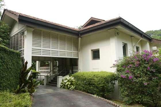 싱가포르 옥슬리 38번가에 있는 리콴유 전 총리의 자택. 1940년대부터 2015년 91세로 사망할 때까지 리 전 총리는 이 집에서 살았다 [사진=스트레이트타임즈]