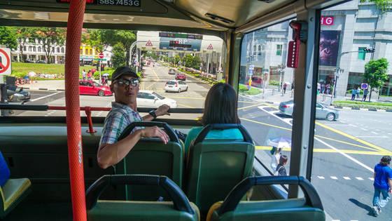 2층 시내버스 내부. 시티투어버스 부럽지 않다.