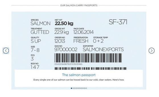 노르웨이 정부가 수산물 이력제의 일환으로 발행하는 '연어 여권'. / 사진 : 노르웨이수산물위원회(NSC)