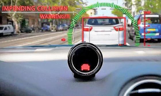 모빌아이의 ADAS 솔루션을 구동하면 전방차 추돌 경보, 앞 차와의 간격 유지 등 주행 관련 데이터를 관리, 분석할 수 있다. [사진 모빌아이]