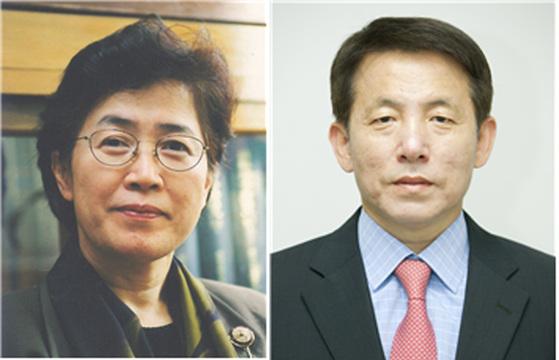 박은정 국민권익위원회 위원장(왼쪽)과 이진규 미래창조과학부 1차관(오른쪽)