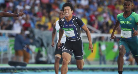 한국인 최초로 100m를 10초0대에 뛴 김국영 선수. [연합뉴스]