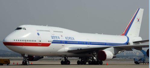 대통령 전용기 보잉 747-400 [중앙포토]