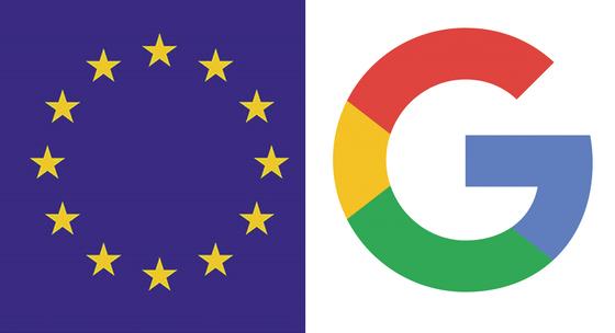 유럽연합(EU) 상징기(왼쪽)과 구글 로고. [중앙포토]