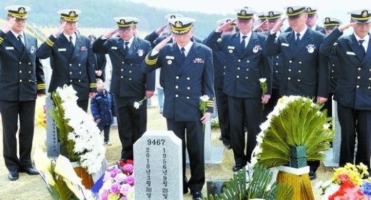 2017년 3월 서해수호의 날 기념식이 국립대전현충원에서 열렸다. 서해수호의 날은 제2차연평해전, 천안함 피격 등으로 전사한 장병을 추모하기 위해2016년 국가기념일로 지정됐다. 대전=프리랜서 김성태