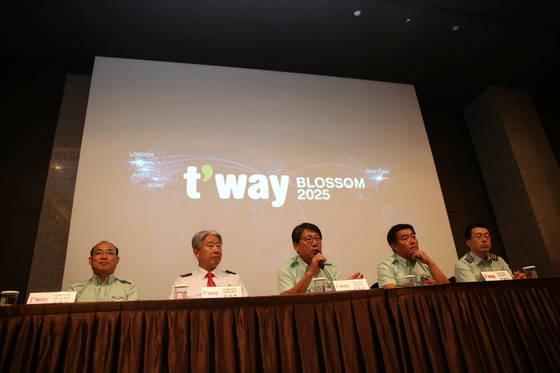 티웨이항공 'BLOSSOM 2025 비전 선포식' [사진 티웨이항공]