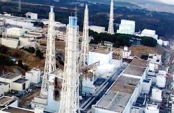 2011년 3월 후쿠시마 원전 사고 당시 모습.