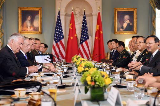 지난달 21일 워싱턴에서 미국과 중국이 만나 외교안보 대화를 개최했다. [사진 신화사=연합뉴스]