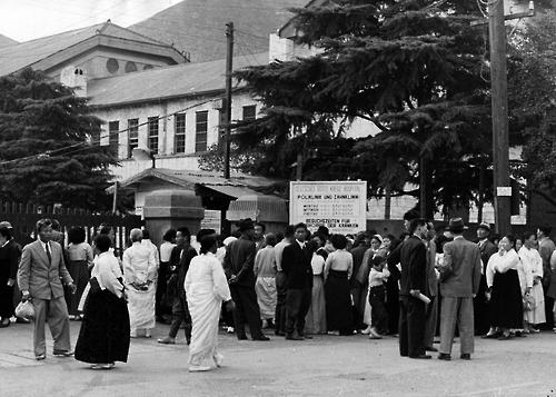 한국전쟁 직후인 1954년 파견된 서독의료단은 옛 부산여고 자리에 독일 적십자병원을 세워 1958년까지 수십만명의 한국인들에 인술을 베풀었다. <외교부 제공>