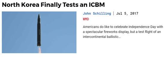 북한 미사일 전무가인 존 실링 미국 에어로스페이스 연구원은 38노스에 기고한 글에서 지난 4일 북한이 발사한 ICBM이 부분적으로 성공일 수 있다며 미국 본토까지 도달할 수 있음을 시사했다. 그러면서 실링 연구원은 북한이 미사일의 타격 정확도를 높이려면 1~2년의 개발 기간이 필요하다고 분석했다. [사진 38노스 홈페이지]