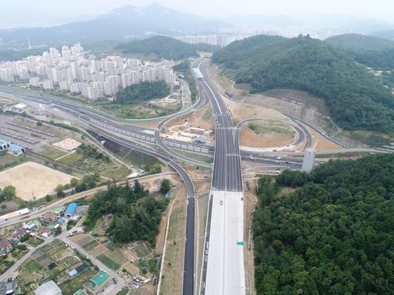 구리∼포천 고속도로 중랑IC 주변 전경[사진 국토교통부]