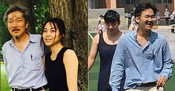 홍상수 감독과 배우 김민희를 패러디한 의정부고 학생들. [사진 의정부고 대신 전해드립니다 페이스북 페이지 캡처]