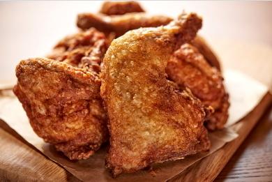 국내 프랜차이즈 효시이자 첫 프라이드치킨인 '림스치킨'의 오리지널 치킨.