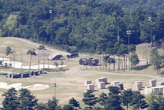 고고도미사일방어(THAADㆍ사드) 체계가 배치된 경북 성주군 사드기지. 지난달 8일 촬영된 사진이다. [중앙포토]
